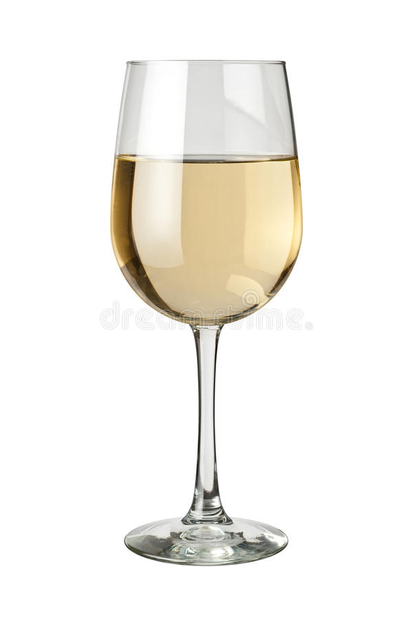 White Wine isolated. White Wine and glass isolated on white. Isolation is on a transparent layer in the PNG format stock photography
