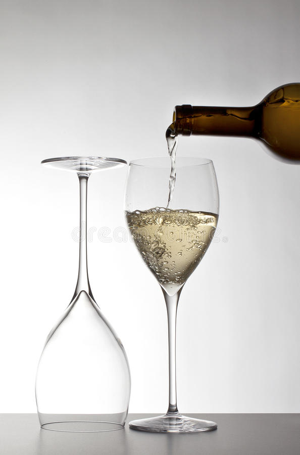 Download White wine stock photo. Image of wine, bubbles, pouring - 26493016