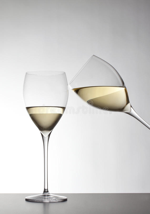 Download White wine stock image. Image of alcohol, gray, glasses - 26493057