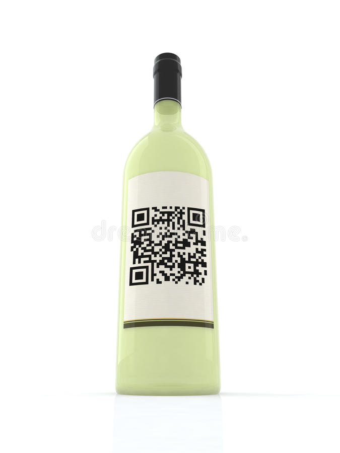 Free White Wine Bottle Stock Photography - 19914392