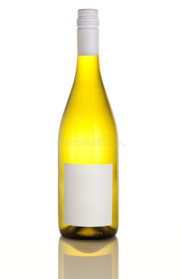 White wine bottle stock photo