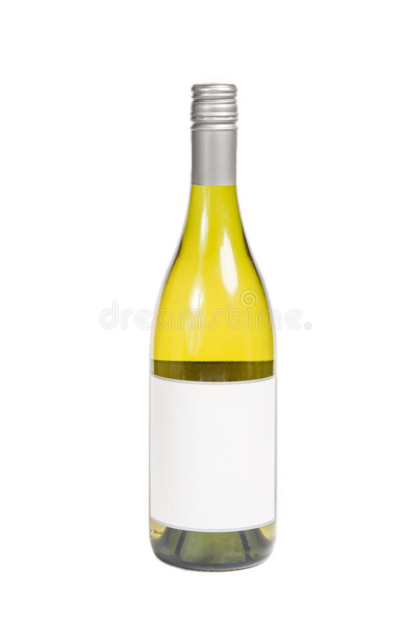White Wine Bottle stock image