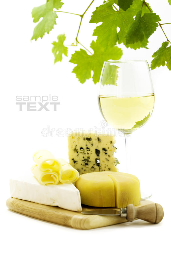 Download White wine and cheese stock image. Image of drink, plate - 11209611