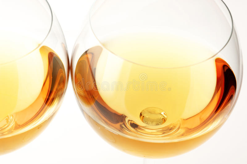 White Wine Close-up Royalty Free Stock Images
