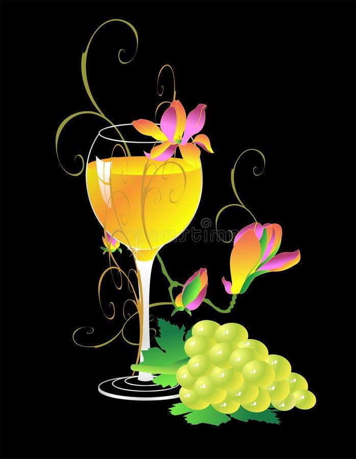 White wine glass stock image