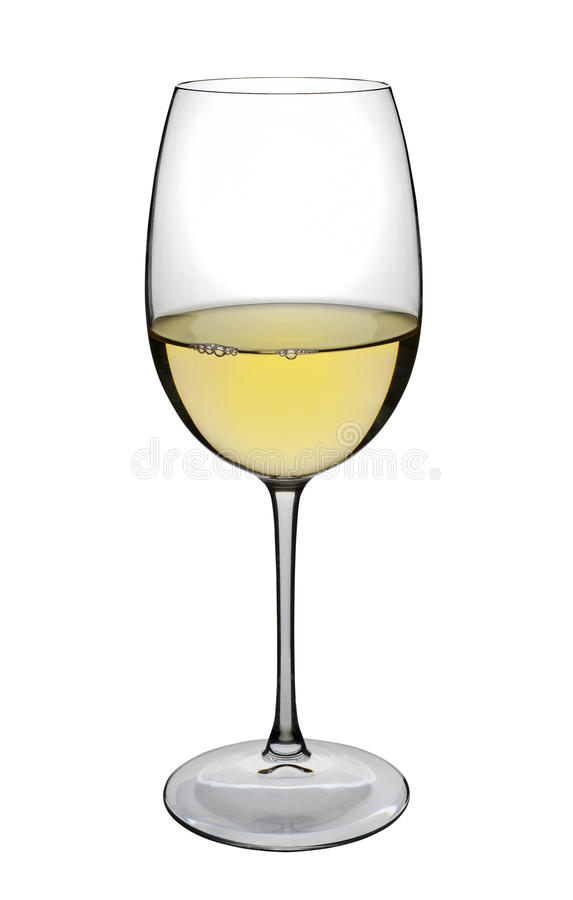 Download White Wine Glass, Isolated Stock Photo - Image: 24495020