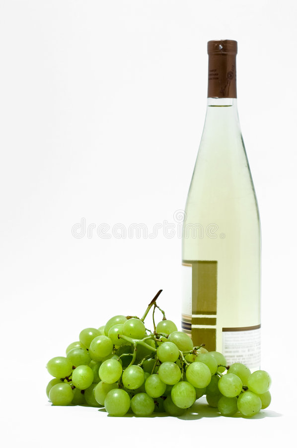 Download White Wine And Grapes Royalty Free Stock Photos - Image: 181478