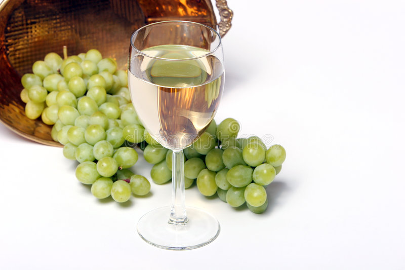 Download White wine and grapes stock photo. Image of juice, bunch - 1859410