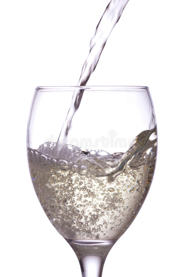 Free White Wine In A Glass. Royalty Free Stock Photography - 21037417