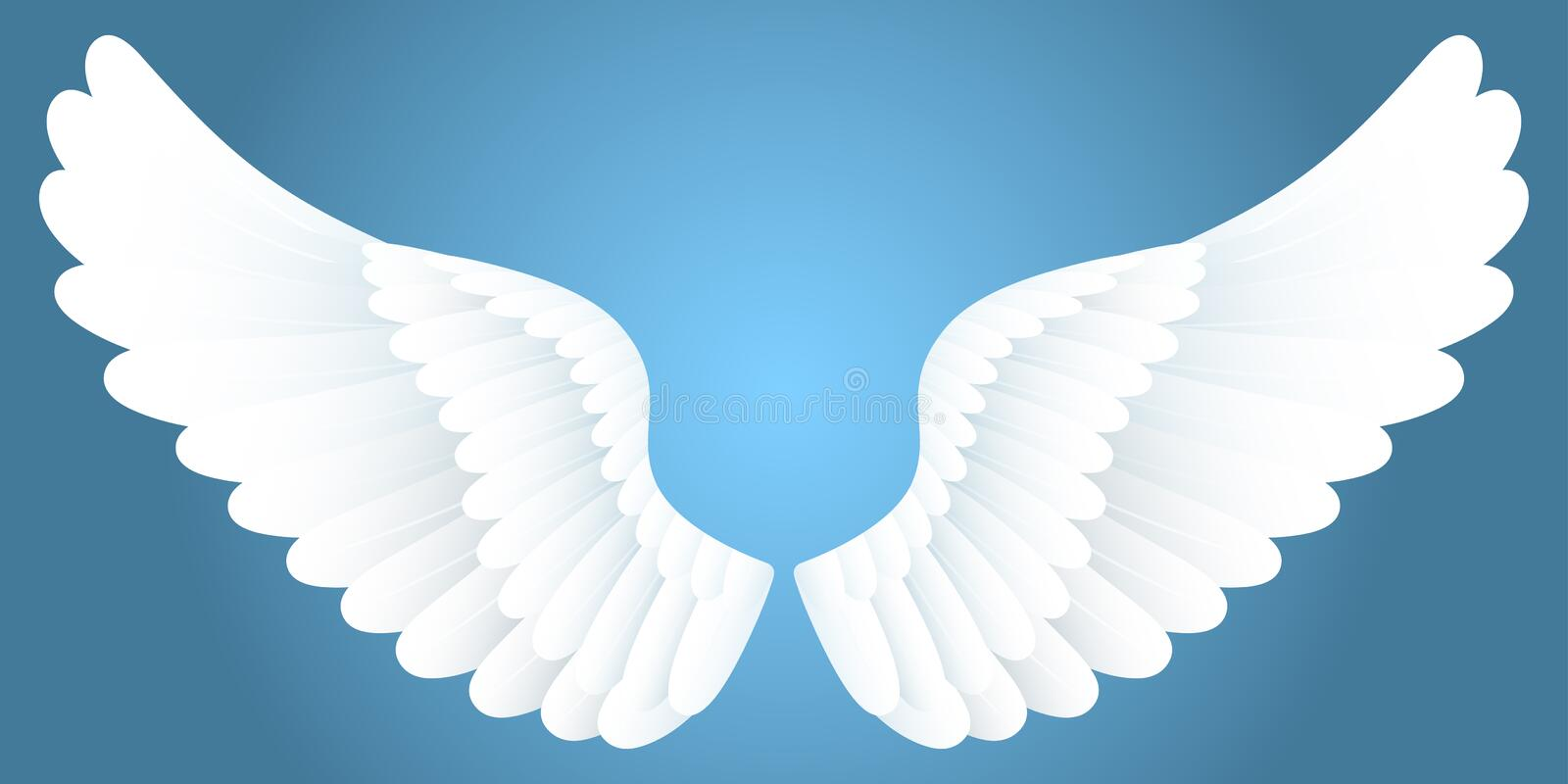 White wings. royalty free illustration
