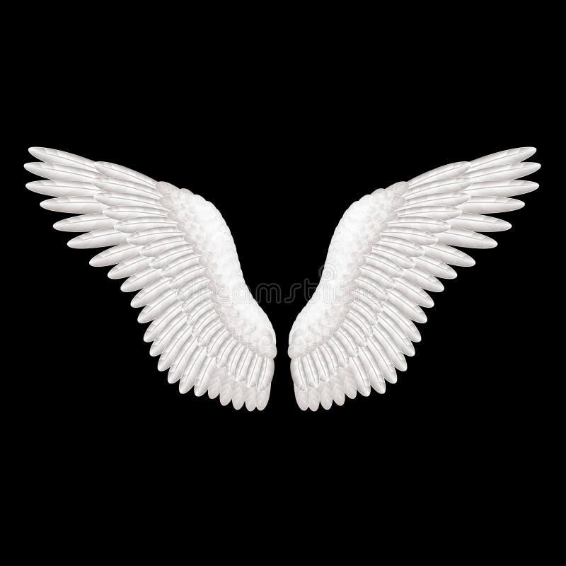 white wings on black vector illustration stock vector swan clip art with flower swan clip art images