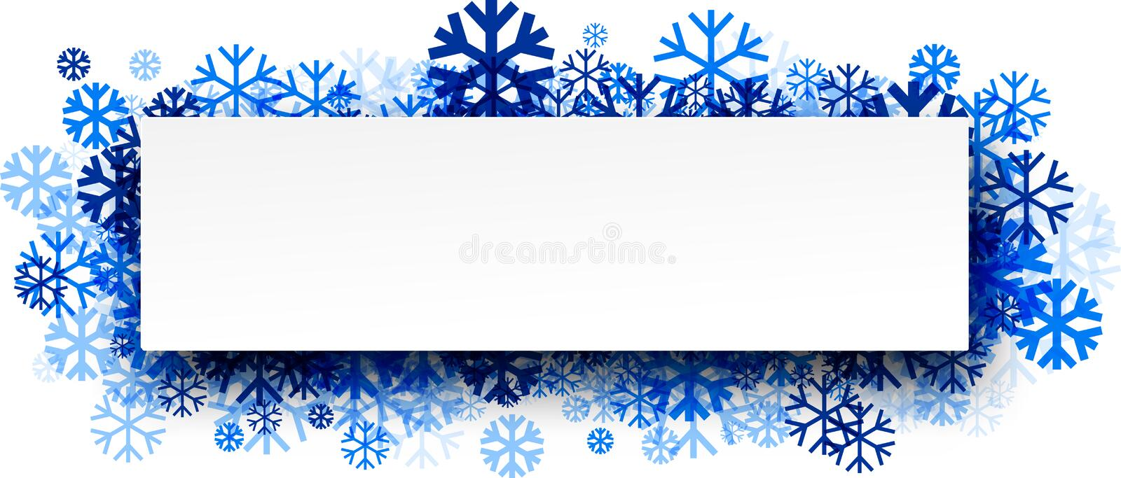 Winter Banner Blue Snowflakes Stock Illustrations – 17,195 ...