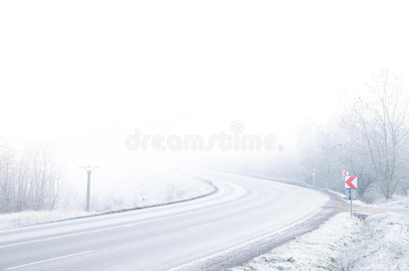 Download White Winter Road With Snow And Ice Stock Image - Image of country, nobody: 39512135