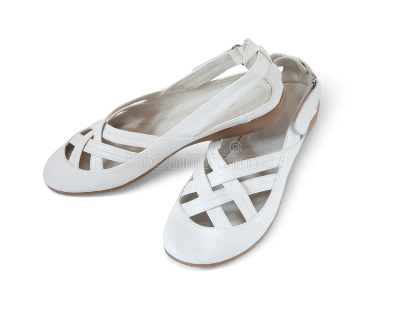 White woman shoes, isolated royalty free stock images