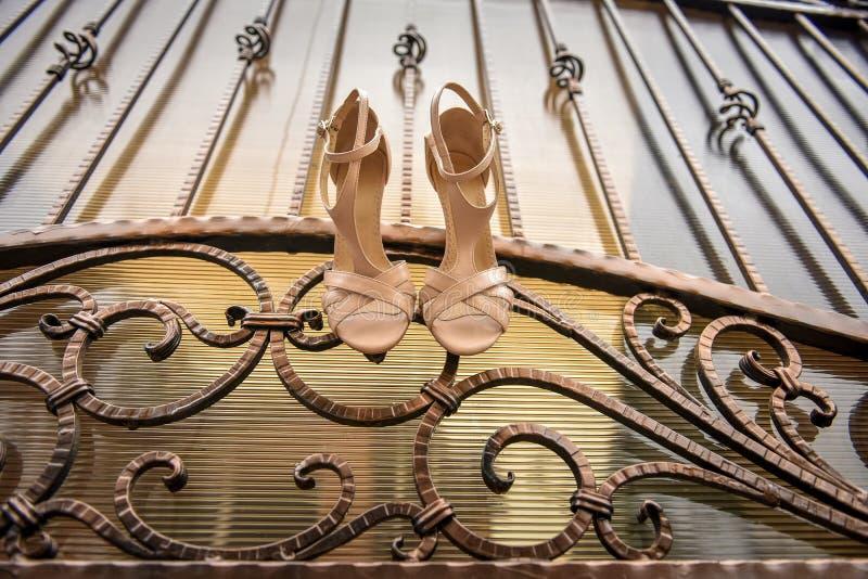 White women stylish shoes royalty free stock photos