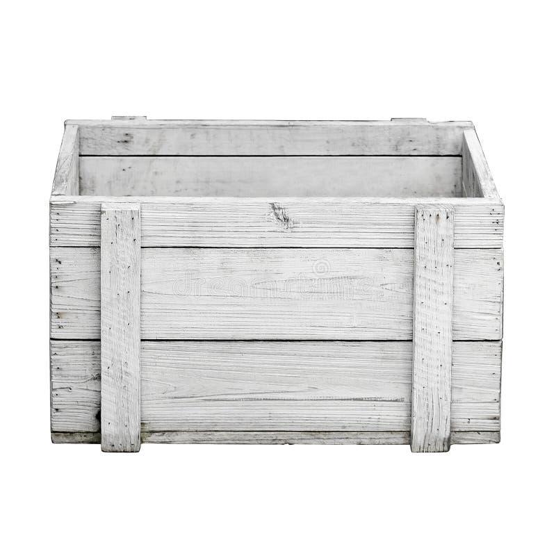 White wood box white background royalty free stock image