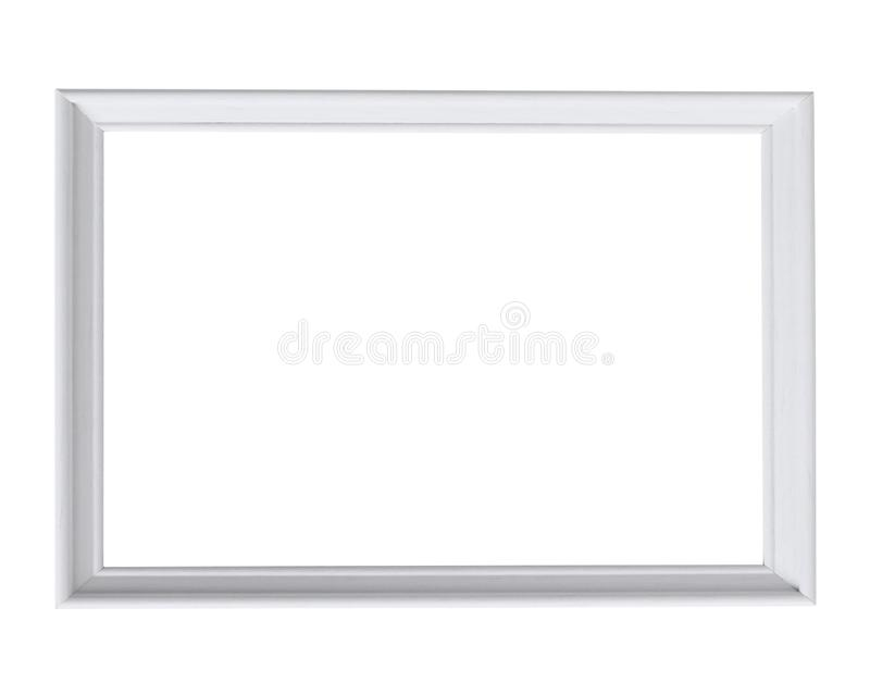 White wood frame photo on white royalty free stock photos