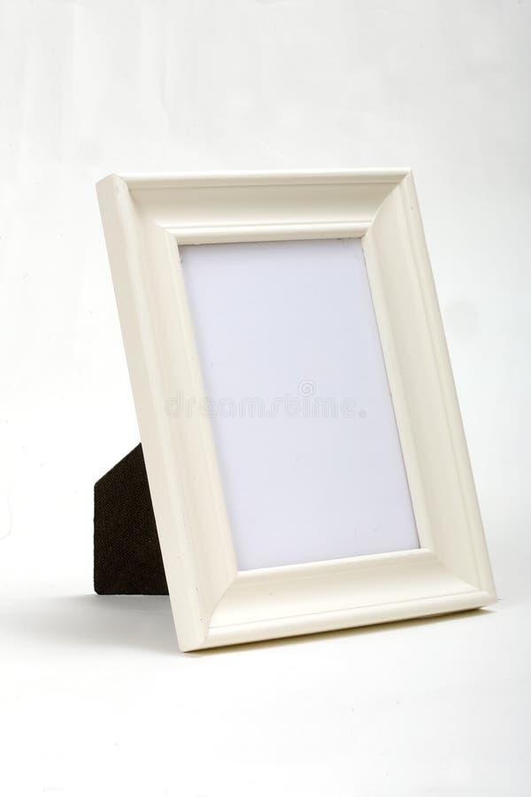 White wood frame white background royalty free stock photo