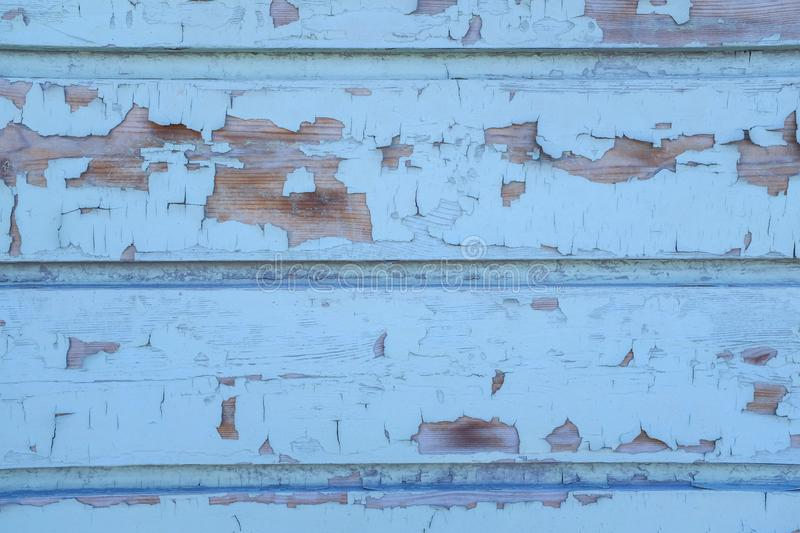 White wood paneled worn Board wall detail, white wall. A shabby old Board. Texture. Textured painted faded Board with old paint royalty free stock images