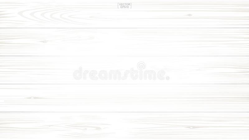 White wood pattern and texture for background. Vector. stock illustration