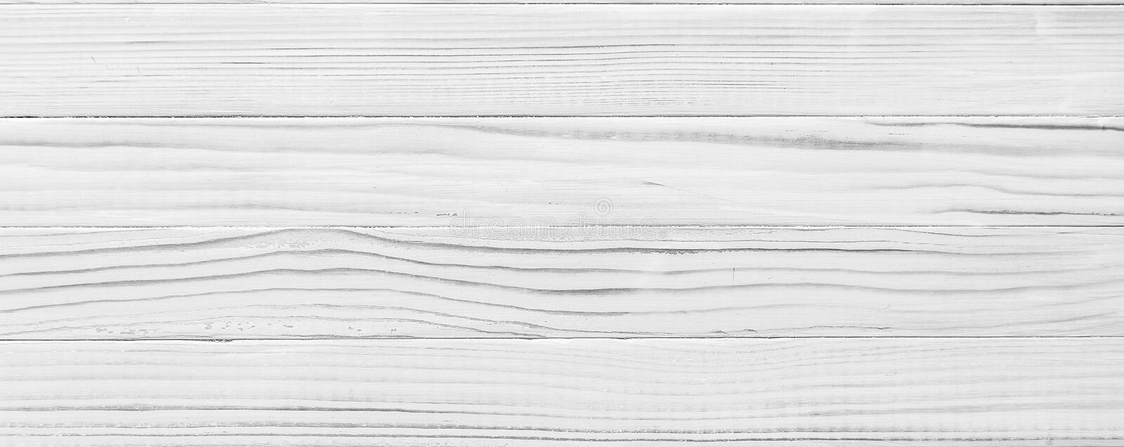 White wood plank as texture and background. White wood plank texture. Background of a wooden table or floor royalty free stock images