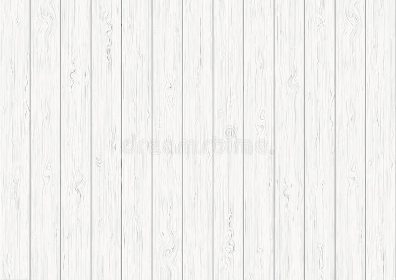 White wood plank texture background. White wood plank texture vector background stock illustration