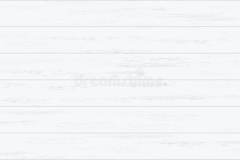 White wood plank texture for background. Vector. Illustration royalty free illustration