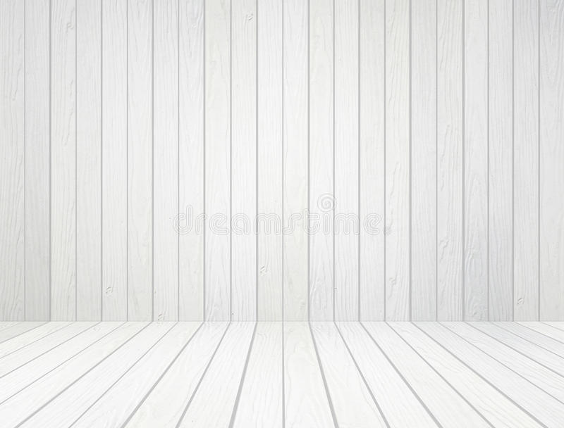 White Wood Wall And Wood Floor Background Stock Image Image Of
