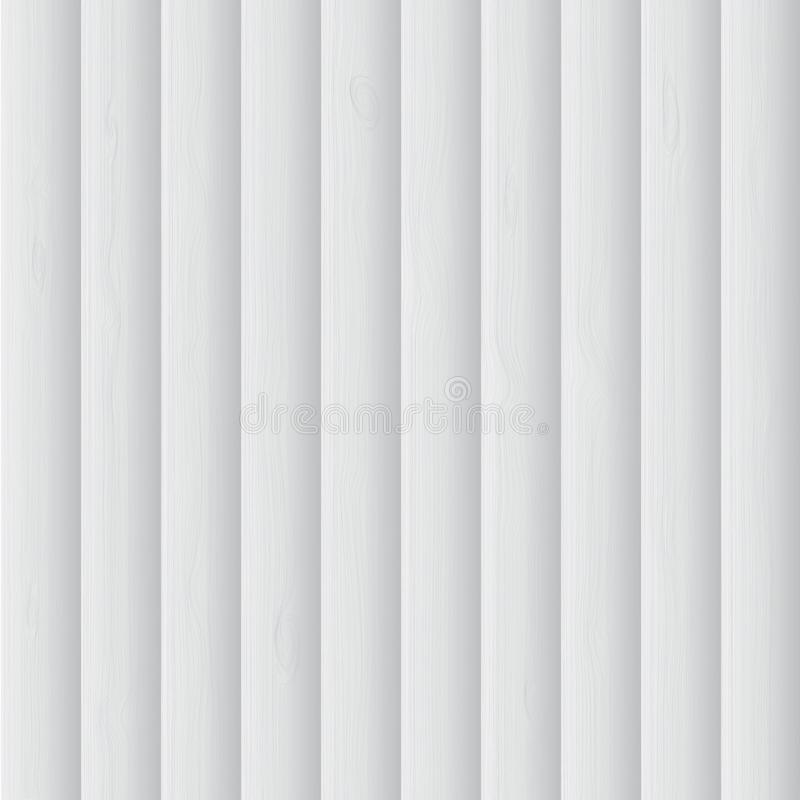 White wooden background. Vector stock photo