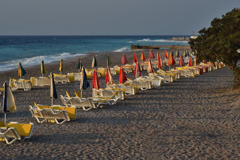 White Wooden Beach Patio Set at Daytime stock photos
