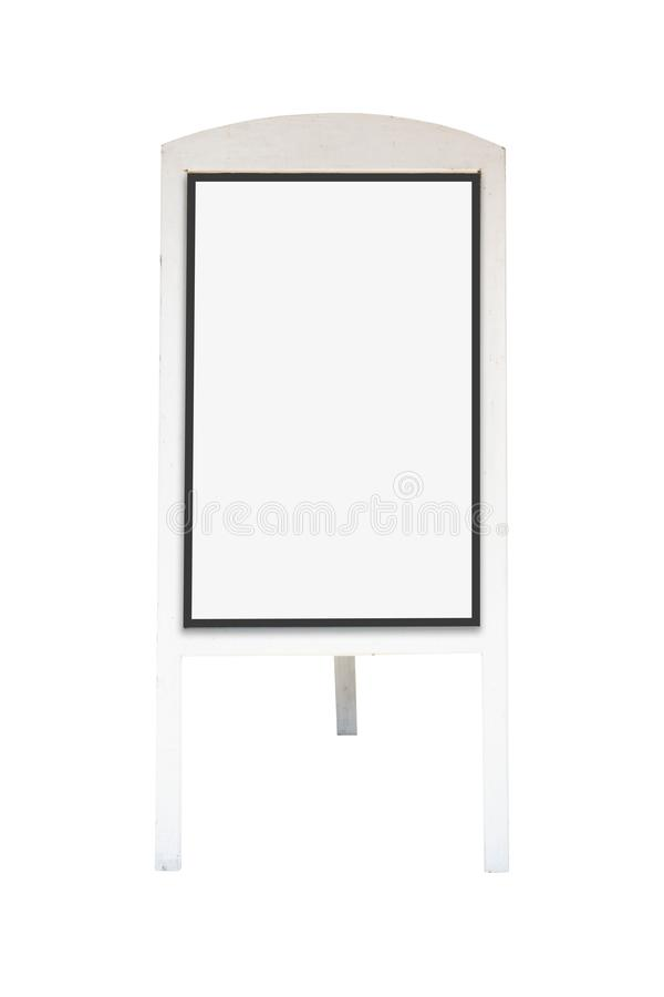 White wooden board blank canvas mockup isolated on white background .Blank space for text and images . Blank space for text and images of file with Clipping stock photo