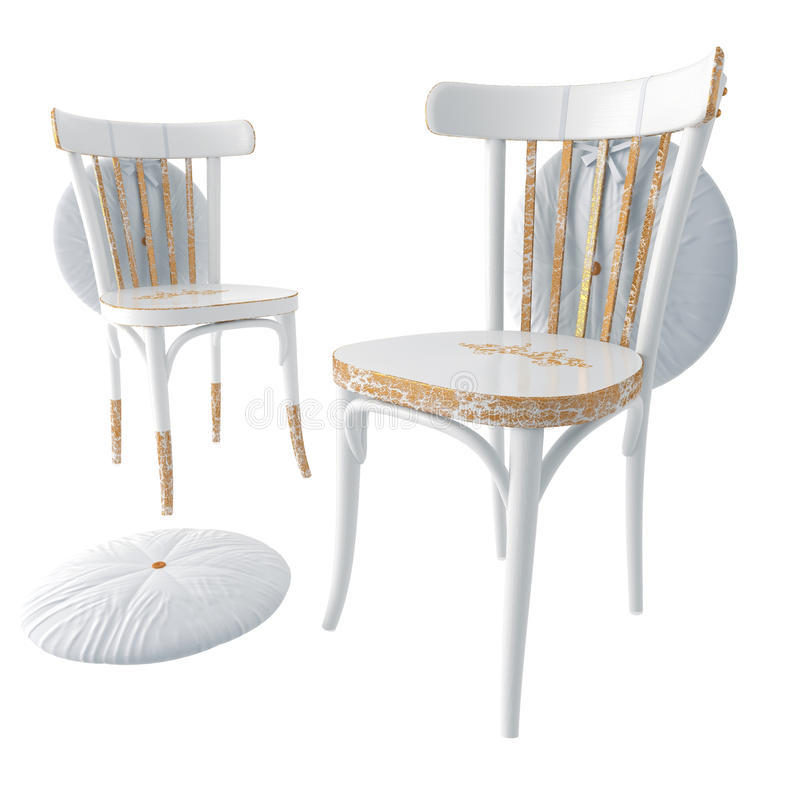 White Wooden Chair Stock Images