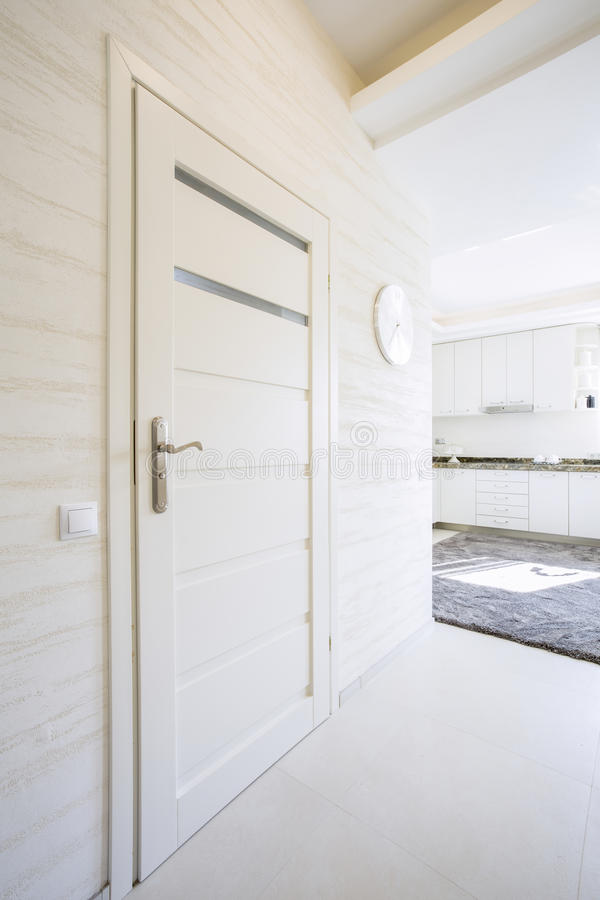 Free White, Wooden Door In Modern House Stock Photos - 47303343