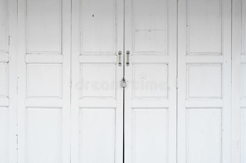 Download White wooden door. stock image. Image of color, house - 32295311
