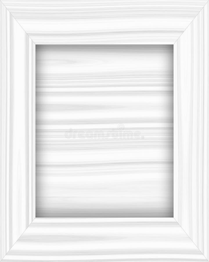 Download White wooden frame stock illustration. Image of blank - 10203551