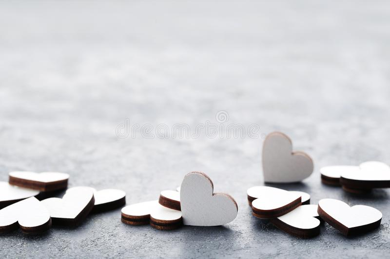 Wooden hearts royalty free stock photography