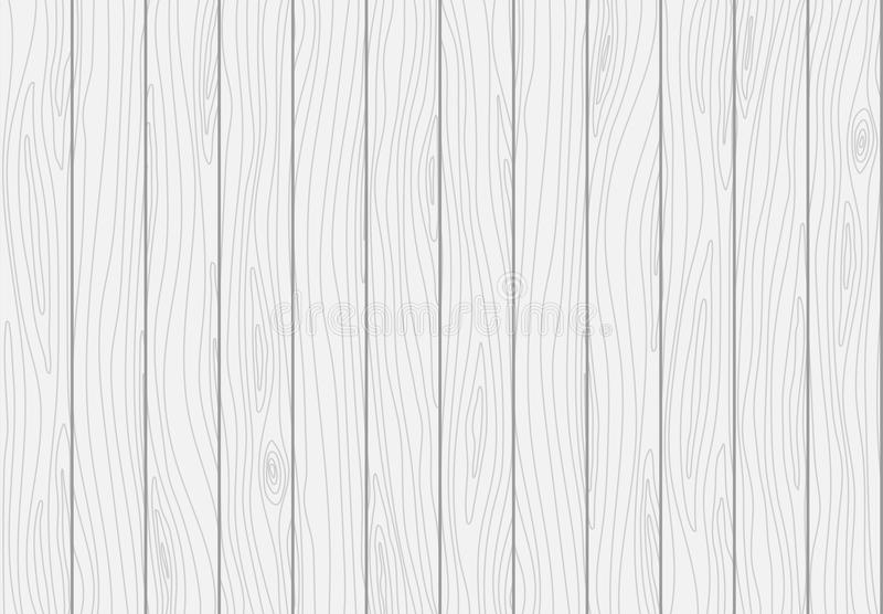 White wooden plank texture. Vector wood background royalty free illustration