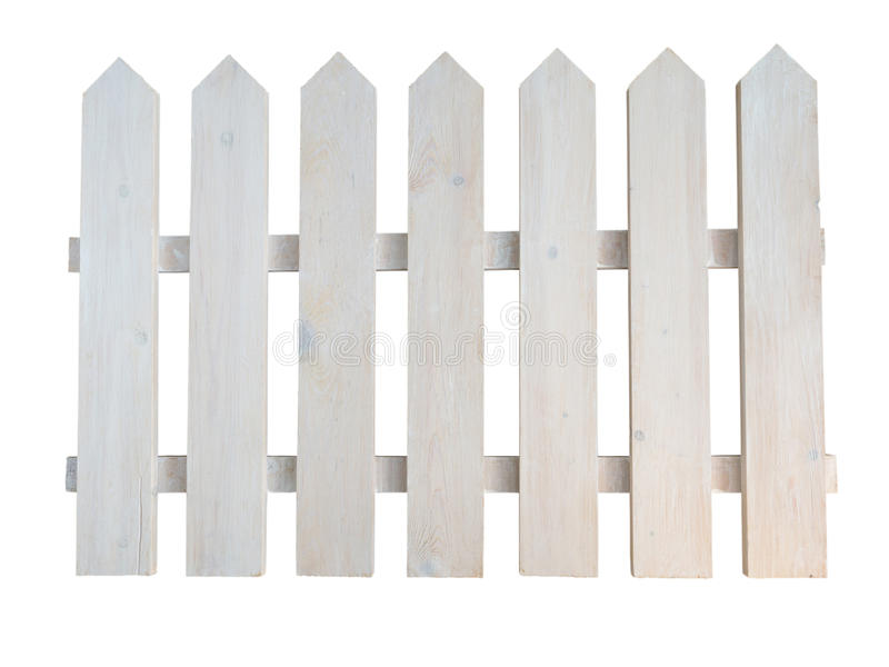 White wooden rough painted decorative cottage garden fence stock photography