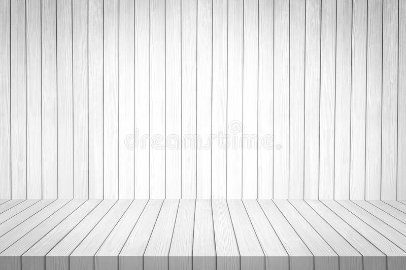 White Wooden Shelf On Wood Background Texture. Stock Illustration - Image: 85143417