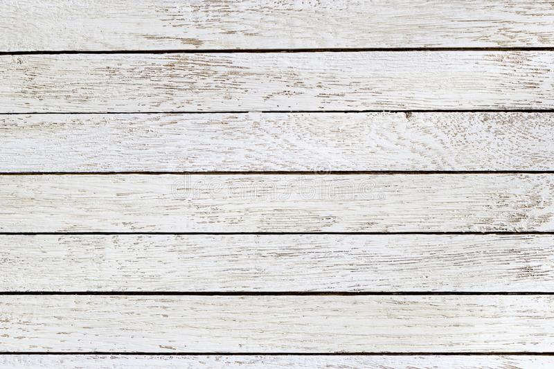 White wooden table background. Top view. Horizontal. Copy space royalty free stock photos