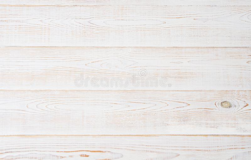 White wooden texture table background. Wood empty floor with copy space. Template desk top view and mock up royalty free stock images