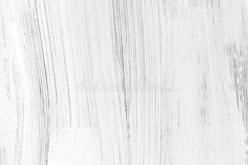 White wooden wall, vertical brush strokes stock image
