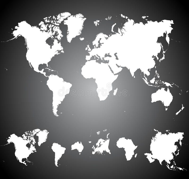 White World Map Stock Images