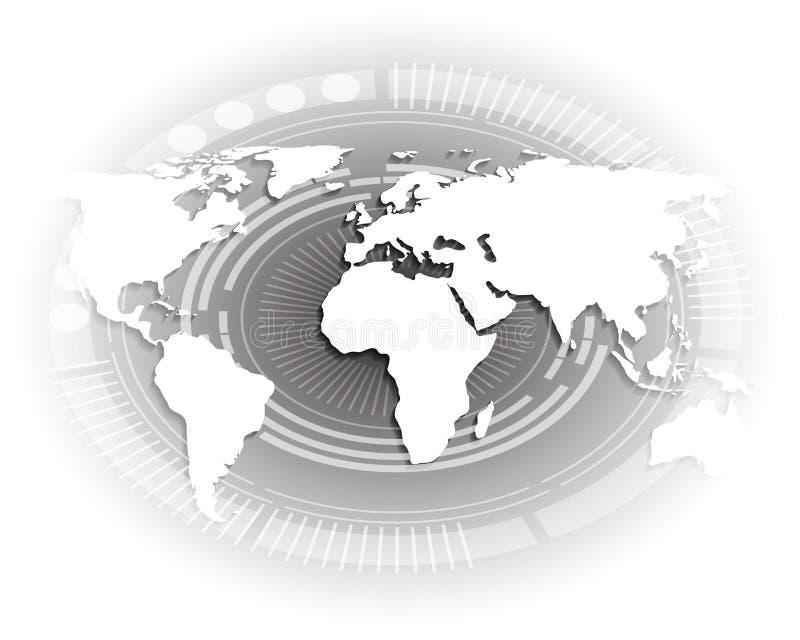 White world map. vector illustration
