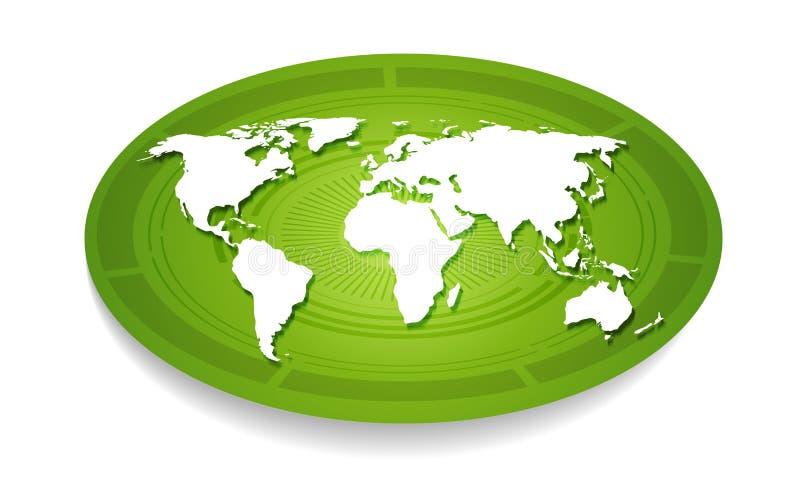 White world map. stock illustration