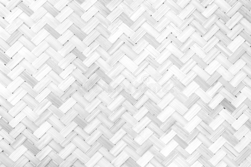 White woven bamboo pattern wood streak old vintage using classical background or use it in design and decorative stock image