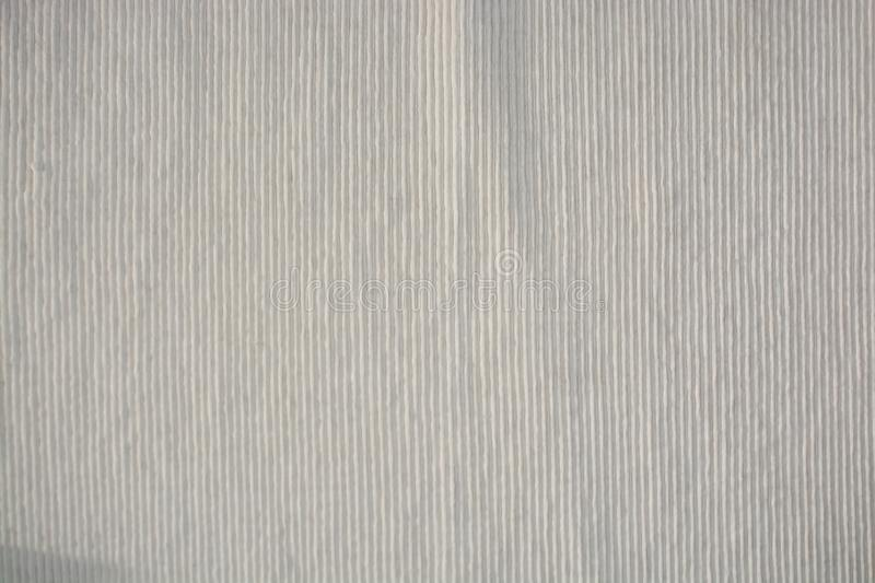 White woven fabric grungy wrinkled background texture royalty free stock photography