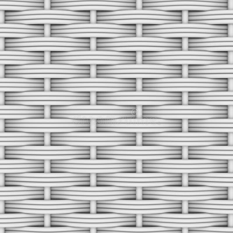 White woven rattan stock illustration