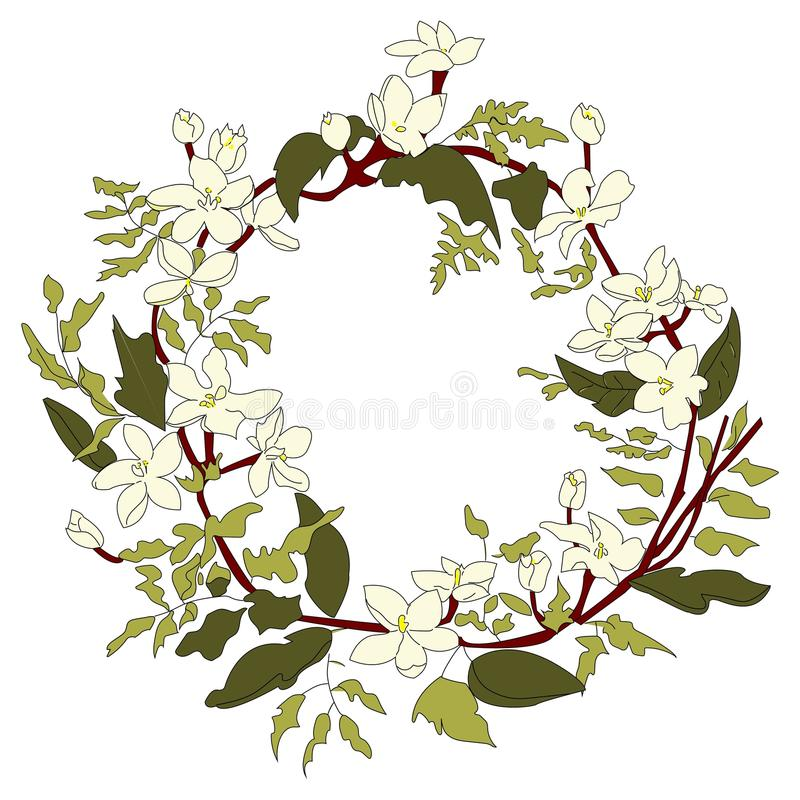 The white wreath royalty free stock photography