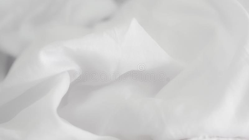 White wrinkled fabric background royalty free stock images